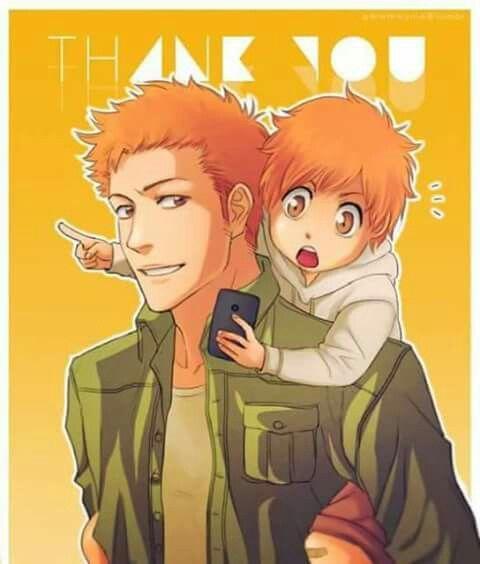 Daddy Ichigo & son Kazui | Bleach