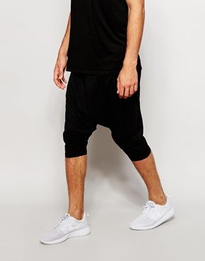 ASOS Jersey Shorts In Light Weight Extreme Drop Crotch