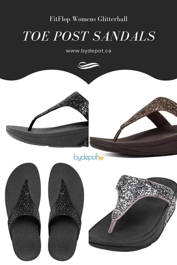 bb20d09a271 FitFlop Women s Glitterball Toe - Post Sandals Pewter 5 When it s your time  to shine