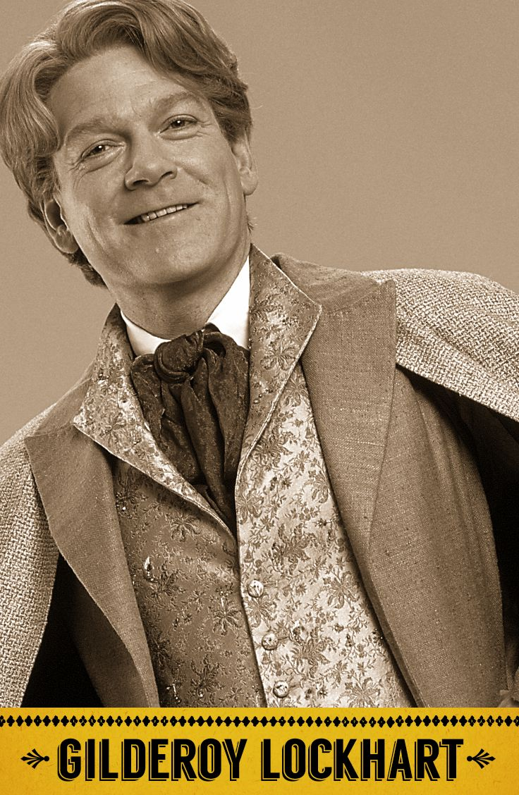 Gilderoy Lockhart, Defence Against the Dark Arts professor, five-time winner of Witch Weekly's Most-Charming-Smile Award.