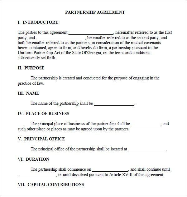 Usually, each member will bring. Business Partnership Agreement Business Partnership Agreement Pdf Business Partnership Agreement Pdf Partnershi Contract Template Agreement Business Template