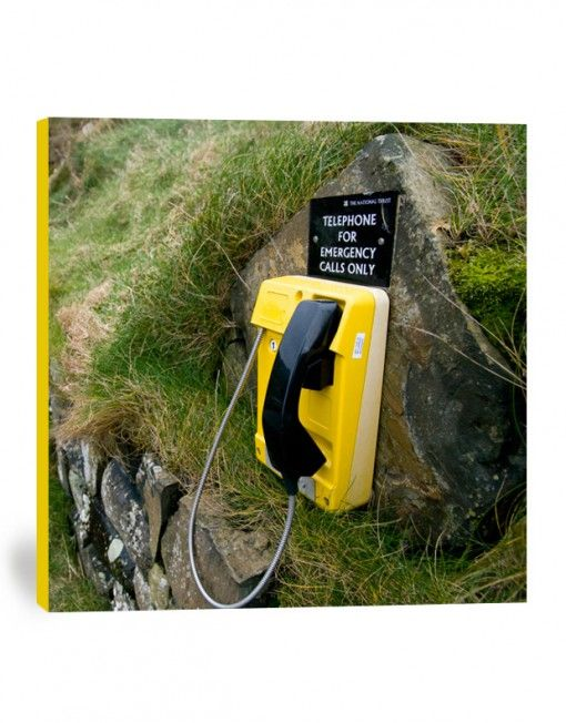 Yellow phone canvas print
