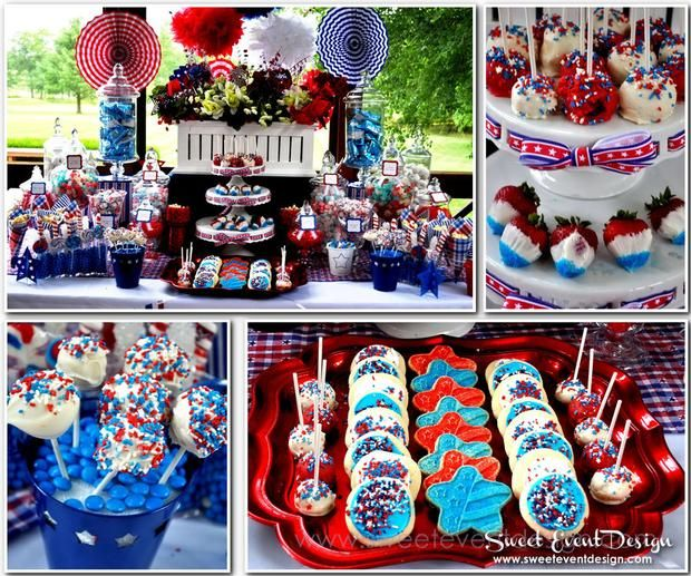 Dessert table by sweet event design for Fourth of july party dessert ideas