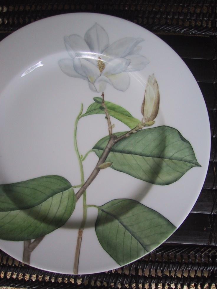 magnohand painted on Limoges Porcelain/ Patricia Deroubaix (sur commande/special order) Francelia
