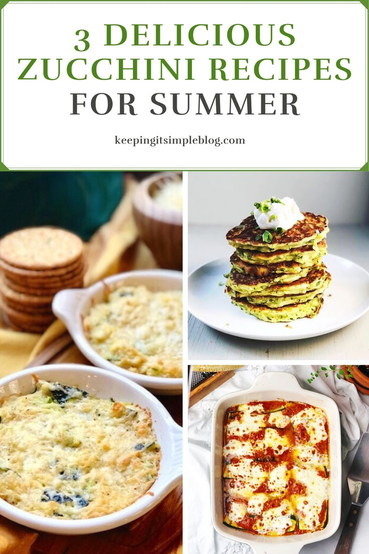 Three easy and delicious zucchini recipes that will help you make use of all that zucchini this summer.