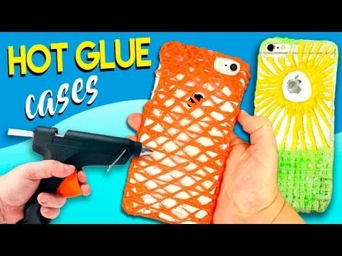 Hot GLUE CASES * DIY home made CELL PHONE case with SILICON - YouTube