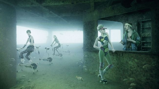 PHOTOS: Haunting Underwater Art Gallery - Renowned Austrian photographer Andreas Franke has transformed a sunken ship into his very own Rococo art gallery. Several of the artist's haunting underwater photos are displayed over 100 feet under the sea inside the SS Stavronikita, a Greek freighter located off the coast of Barbados. weather.com
