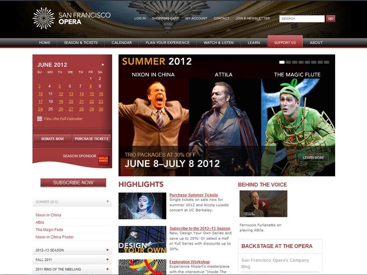 Top 10 Kentico Websites for May 2012 http://devnet.kentico.com/Blogs/Lenka-Navratilova/June-2012/Top-10-Kentico-Websites-for-May-2012.aspx San Francisco Opera  Implemented by:  POP, USA  Kentico Certified Partner