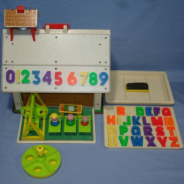 vintage toys | VINTAGE FISHER PRICE TOYS 1971 FP PLAY FAMILY SCHOOL #923 - Vintage ...