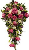 Pink roses, white carnations, orchid buds and greens available for Hyderabad delivery. Fast and same day gifts delivery to all location in Hyderabad. Visit our site : www.flowersgiftshyderabad.com/Bridal-Bouquet.php