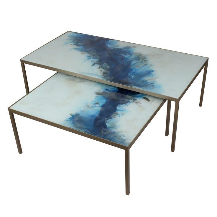Notre Monde Blue Mist Organic Coffee Table Set Small