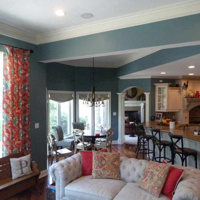 Kitchen Room Colour: Moody Blue Sherwin Williams
