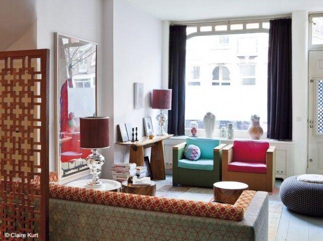 un salon aux inspirations asiatiques deco salon asie japonais. Black Bedroom Furniture Sets. Home Design Ideas