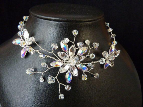 Bridal Necklace Wedding Necklace Bridal Jewelry by glamourbysonja