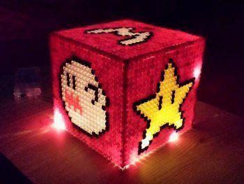 Do it yourself Lampe aus Bügelperlen collage 18