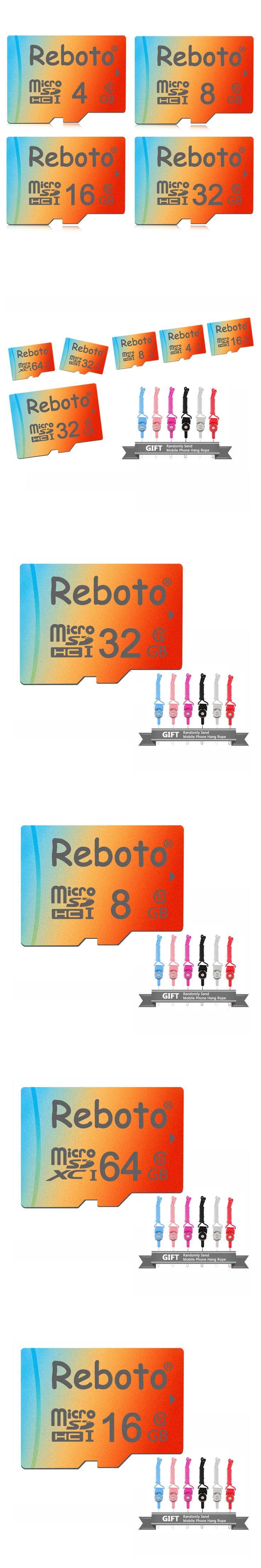 Reboto High-speed Micro SD Card Class10 64GB Memory Card 32GB Microsd 16GB 8GB Mini TF Card 4GB Gradient Ramp Free Shipping