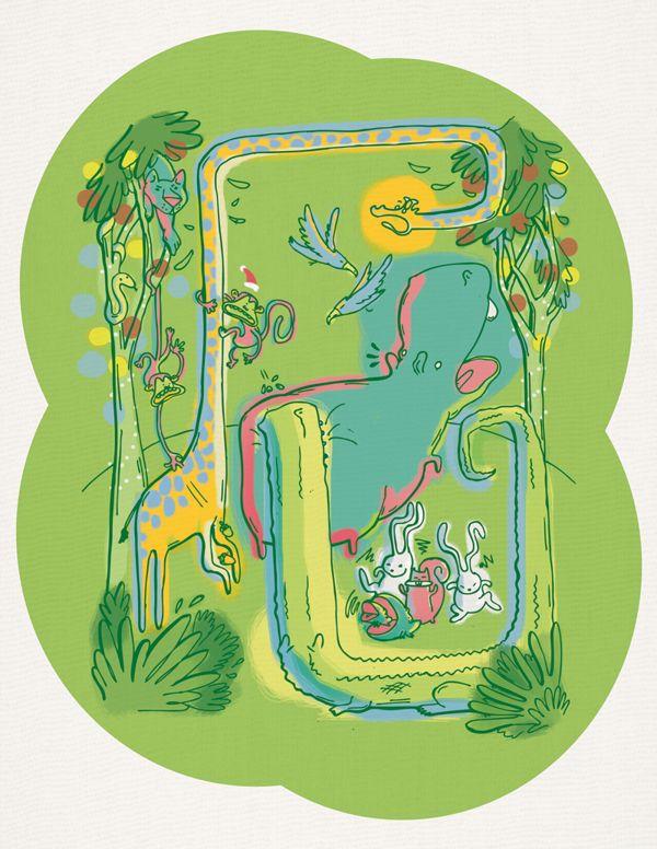 Illustration of a Selvatic christmas by casus olivas. visit www.behance.net/casusolivas