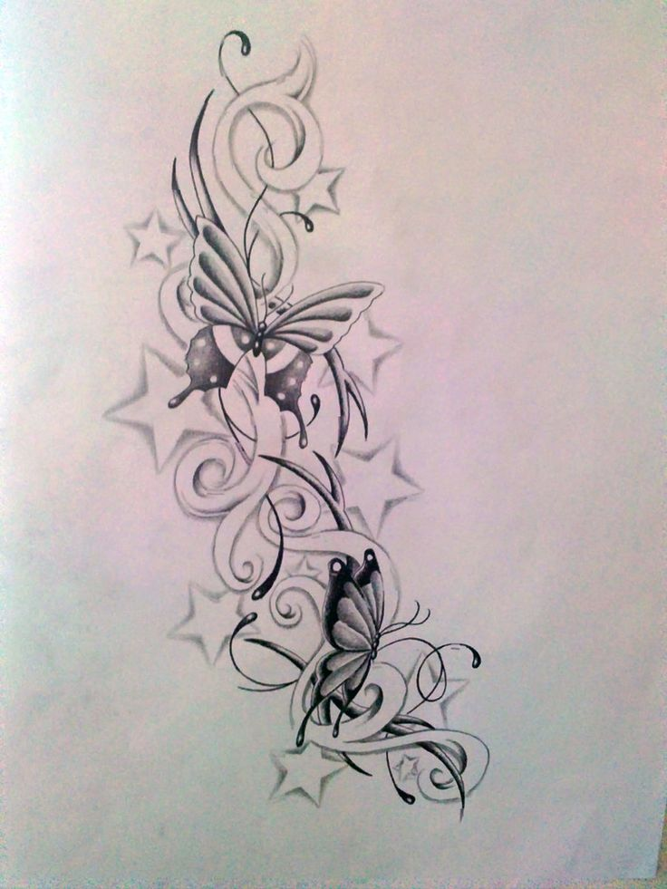 Sun And Stars Tattoo Designs | ... Butterfly And Star S By Ashtonbkeje Designs Interfaces Tattoo
