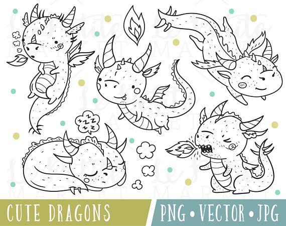 Cute Dragon Clipart Set Clipart Dragons Kawaii Dragon Clipart Dragon Clip Art Dragon Illustrations Dragon Digital Stamps Dragon Png Kawaii Dragon Cute Dragon Timbres Digitaux