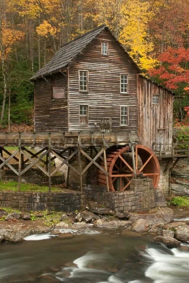 Glade Creek Mill in West Virginia by Frank Ceravalo