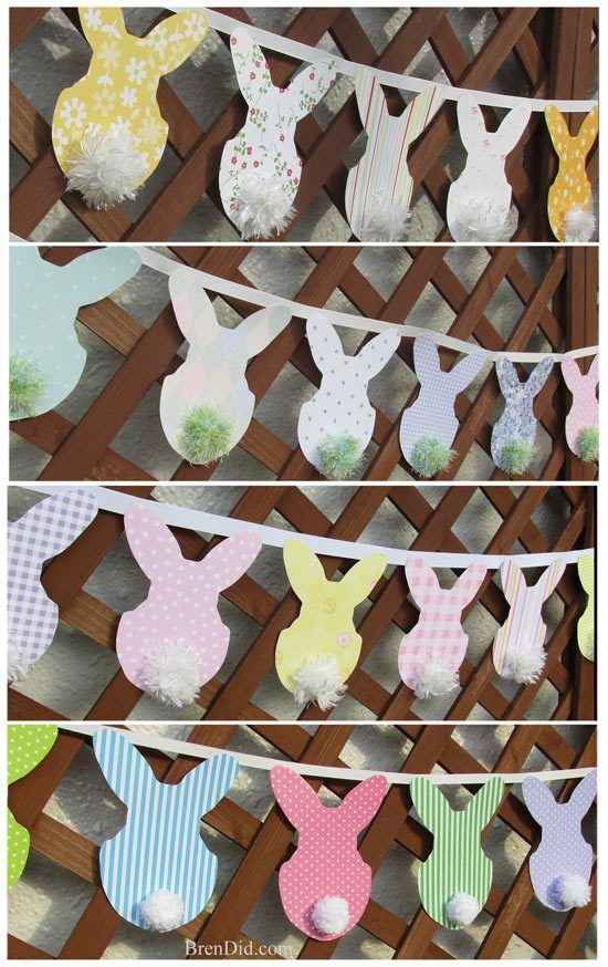Knock off decor, Pottey Barn Inspired Easter Bunny Banner, bunny garland, easter garland, easter banner,