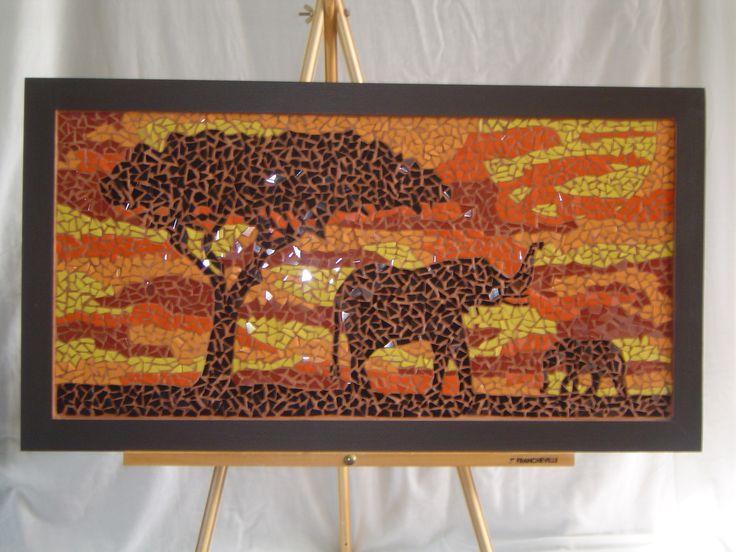 Mosaic Elephants