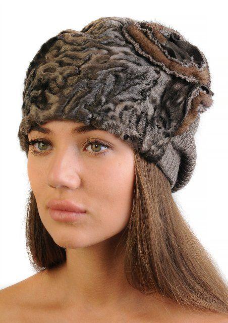 Модная шапка из каракуля. 56-57 р-р. Других размеров не делаем