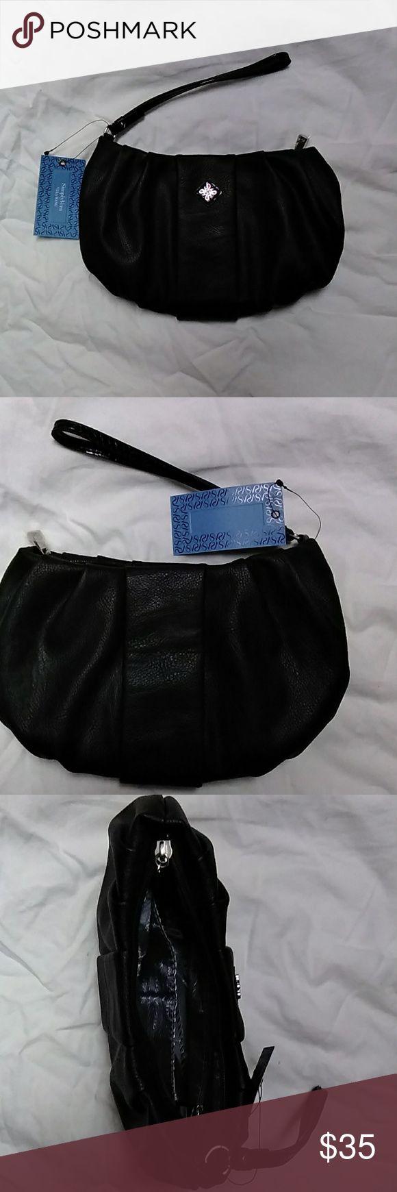 Simply Vera, Vera Wang Women's Wristlet Simply Vera, Vera Wang Women's Wristlet.  Black faux leather.  Multi card slots. One zippered inside pocket. NWT. Simply Vera Vera Wang Bags Clutches & Wristlets