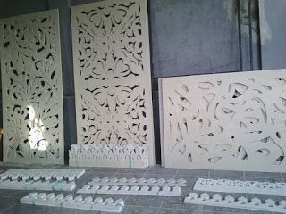 Jasa Laser Cutting GRC Board