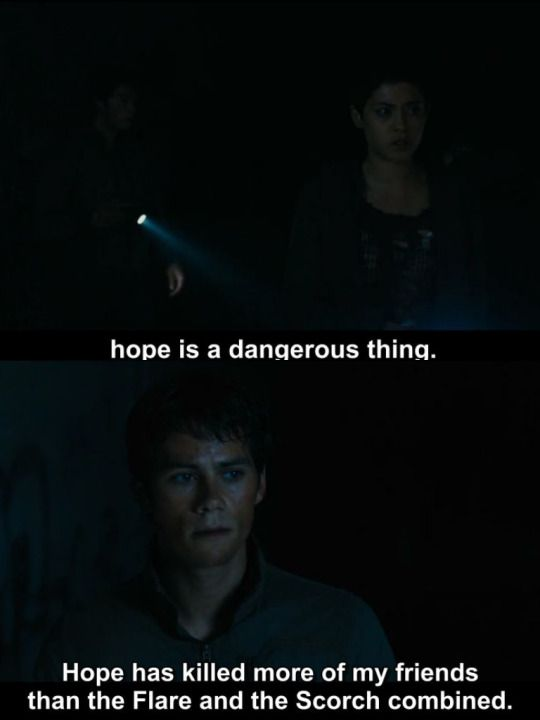 Maze Runner: The Scorch Trials   Thomas and Brenda