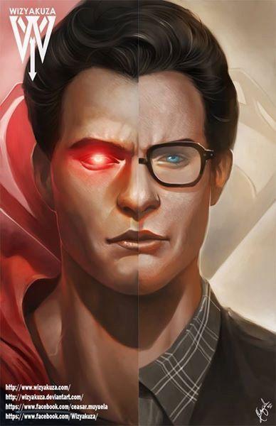 Clark Kent Henry Cavill & Superman Split  Batman vs. by Wizyakuza
