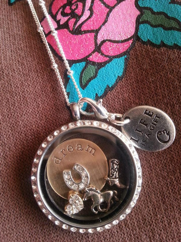 Country girl locket! Origami Owl 2014 Spring Collection is now available so go check it out www.mariecope.origamiowl.com If you want to join my team ($149 to start and you can make it back with one jewelry bar) go to www.mariecope.origamiowl.com/EnrollApproved.ashx and enter Mentor ID 10493084. Don't forget to follow me on www.facebook.com/mariecopeorigamiowl