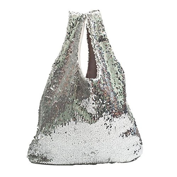 Zarapack Women's Large Sequin Shopping Tote Handbag Purse