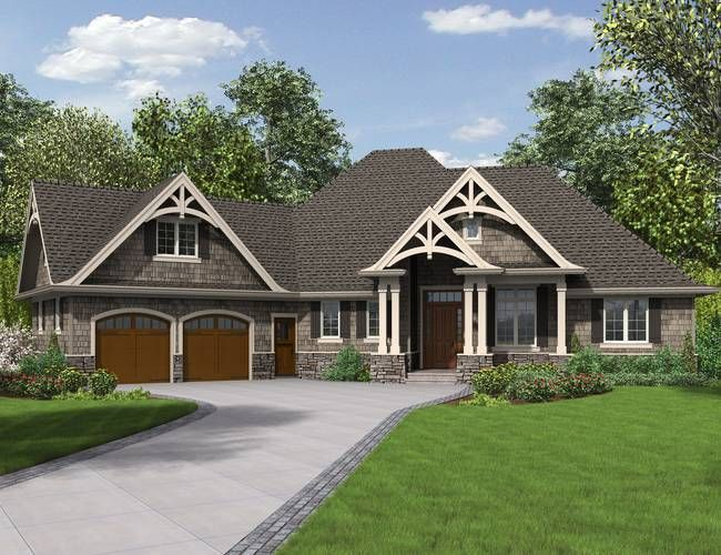 Mascord Plan B1248 - The Ripley    THis is one of our favorites...but have modification request in for 3 car garage that goes to the back (does not make it longer), fireplace centered on the wall.