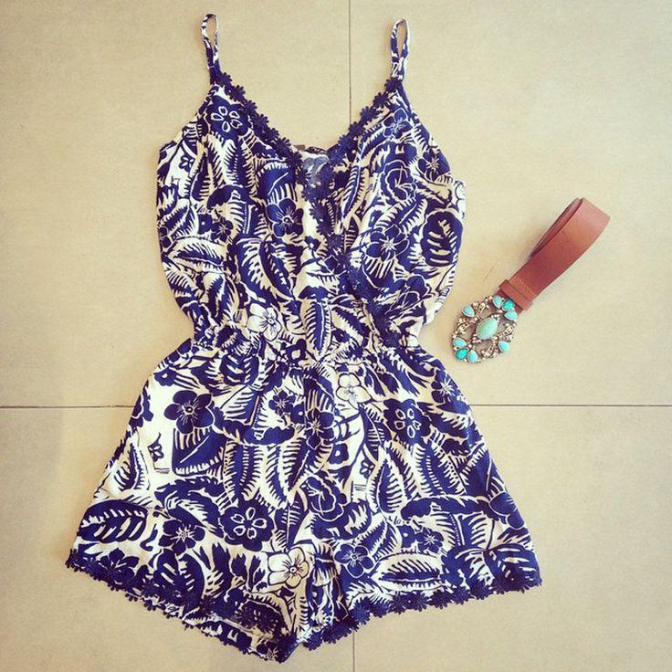 Evening Jumpsuit V Neck Lace Summer Dress Ladies  Playsuit Party Short Romper #Unbranded #Jumpsuit