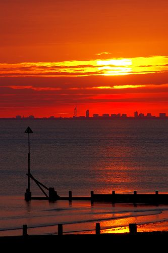 Sunset, Selsey, West Sussex, England