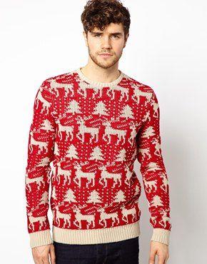 Suéter con diseño navideño de ASOS
