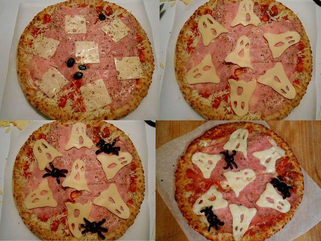 Pizzas relookées pour Halloween