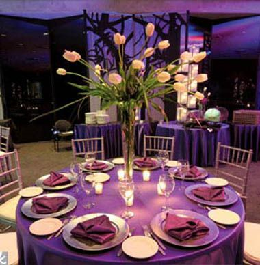 Purple! so pretty. love all of these decorations!