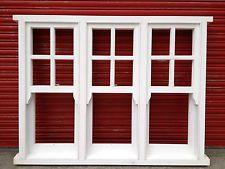 Triple Sliding Sash Windows with Georgian Bars, Wooden Timber - Made to Measure!
