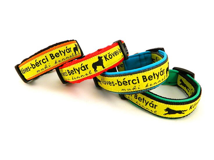 Puppy first collar, with unique kennel ribbons. #dogcollar #puppycollar
