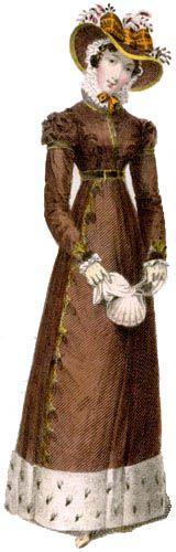 1824, dawna moda kobieca, XIX wiek, dawne suknie, blog historia, blog historyczny
