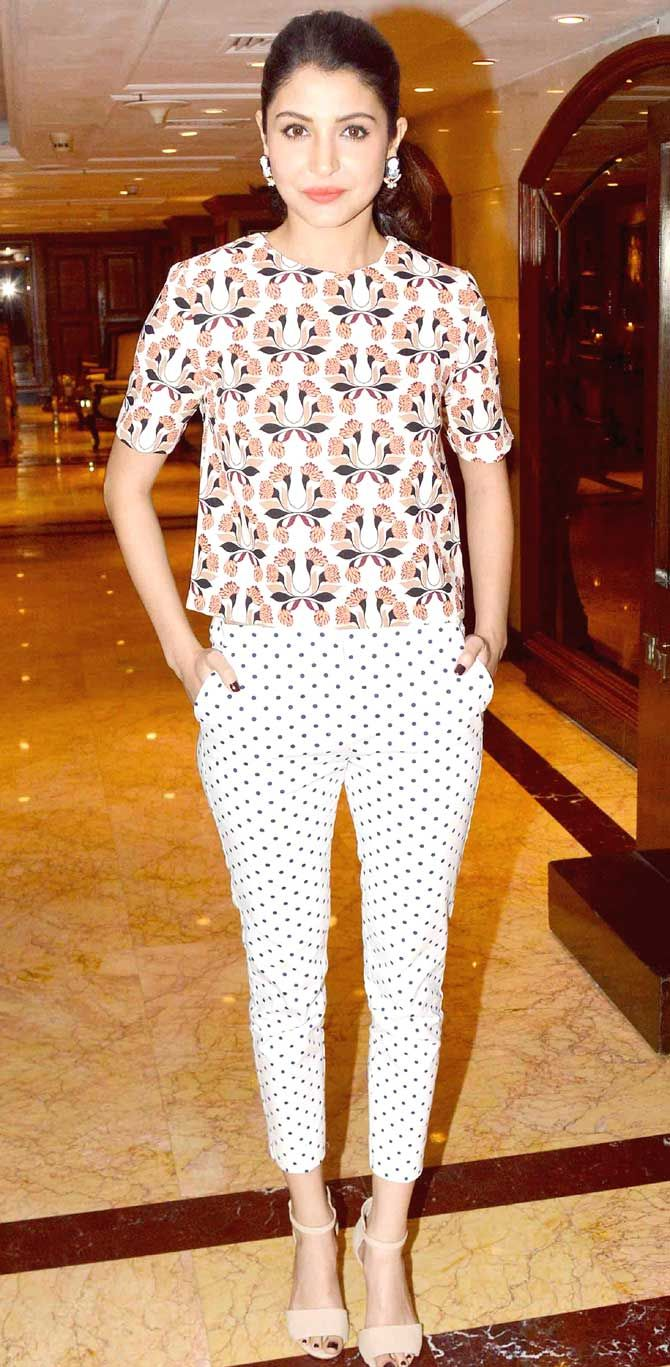 Anushka Sharma at the second trailer launch of their film 'Bombay Velvet'. #Bollywood #Fashion #Style #Beauty