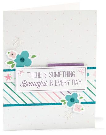 Make Waves - Complement Day #ctmh #closetomyheart #complement #compliment #sticker #embellish #embellishment #accessories #accessory #make #waves #floral #flowers #bashful #glacier #lagoon #pansy #something #beautiful #every #day #polkadots #dot #diy #card #cardmaking