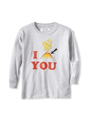 67% OFF Little Dilascia Kid's I Lava You Long Sleeve Tee (Grey)