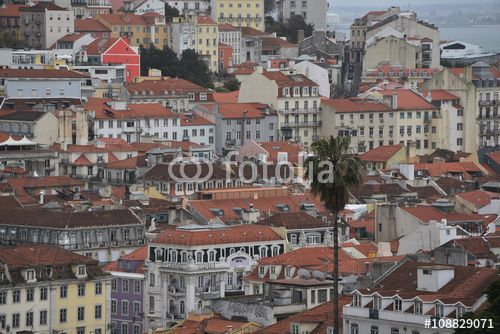 "Download the royalty-free photo ""Central area houses view, Lisbon, Portugal"" created by Ciaobucarest at the lowest price on Fotolia.com. Browse our cheap image bank online to find the perfect stock photo for your marketing projects!"