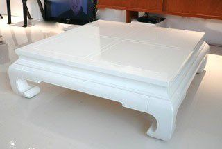 Scavenger: Chinoiserie White Lacquer Coffee Table for $350