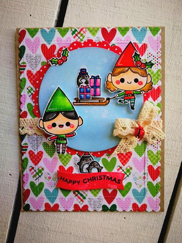 """HAPPY+CHRISTMAS""+CARD - Scrapbook.com #christmascard #mamaelephant #sizzix #sizzixlife #christmas #natale"