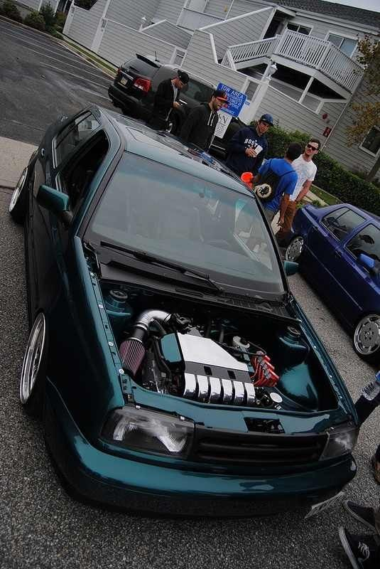 A very clean Mk3 GTI with a nice engine swap