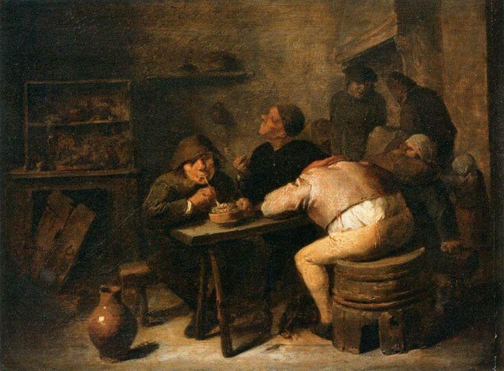 Adriaen Brouwer - Interior of a Smoking Room, 1630-32